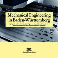 Overview Mechanical Engineering Baden-Württemberg